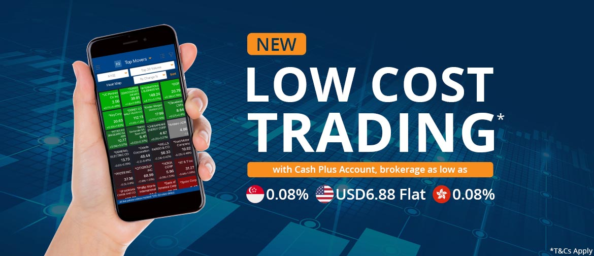 Low cost trading with Cash Plus Account