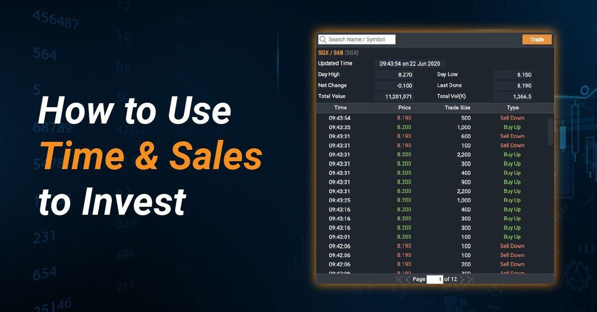 How to Use Time & Sales to Invest?