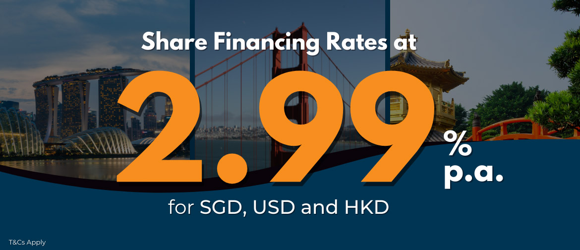 Share financing rate from 2.99%